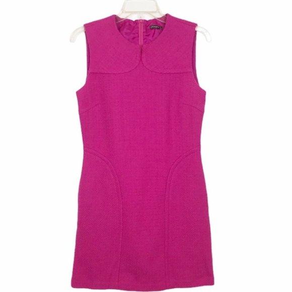 J.McLaughlin Pink Wool Sheath Dress Size 10